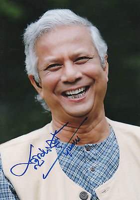 "Mohammad Yunus ""Nobelpreis Frieden 2006"" Autogramm signed 20x30 cm Bild"