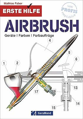 Fachbuch Erste Hilfe Airbrush; Geräte, Farben, Farbaufträg, Modellbahngestaltung