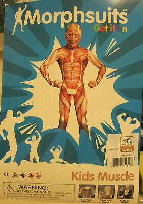 Helloween Party Kids Muscle Morphsuit Ganzkörperanzug Größe M   8 - 10 (Ganzkörper Muscle Anzug)