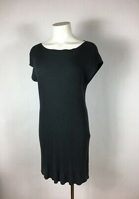 EILEEN FISHER -  Ribbed gray Off-Shoulder Stretchy Sweater Dress S