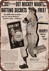 Mickey Mantle Baseball Vintage Sports Signs