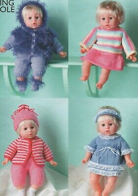 Vintage Knitting Pattern For Assortment Of Dolls Clothes     (178)