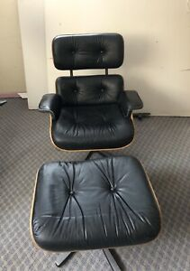 Vintage Herman Miller Style Chair and Ottoman