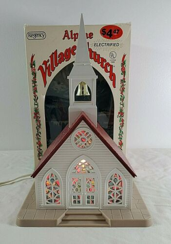 VTG Christmas Alpine Village Church Light - #1553 - Regency Industries - WORKS