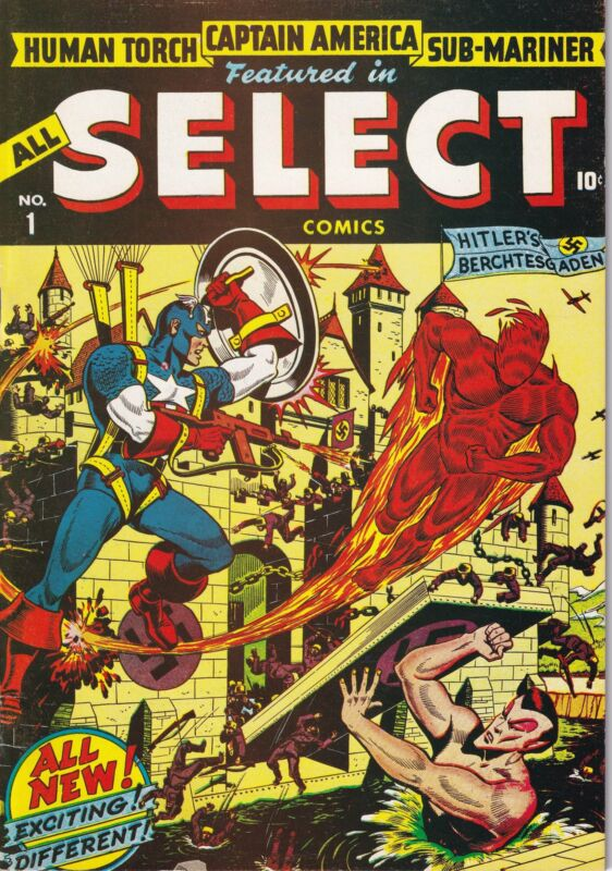 All Select (1943) 1 Captain America Human Torch Sub-Mariner Black Widow Claw Sat