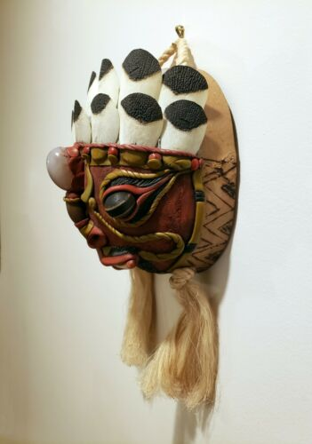Amazonia Brasil Amazonian Tribal Mask Brazil Rare South American from the Amazon