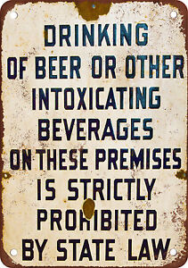 No-Drinking-Beer-Vintage-Look-Reproduction-Metal-Sign