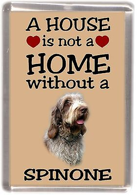 """Italian Spinone Dog Fridge Magnet """"A HOUSE IS NOT A HOME"""" by Starprint"""