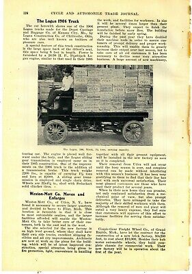 1905 Logan Construction Co. Truck Story & Pic: Chillicothe, OhiO Pictured Loaded