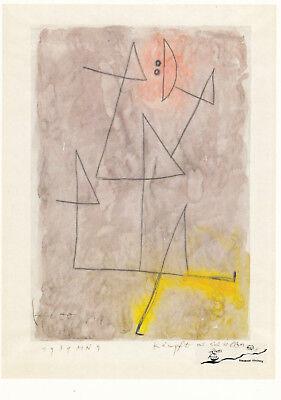 Postkarte: Paul Klee - Kämpft mit sich selber / 1939