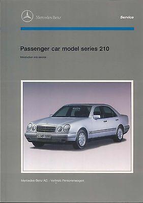 Mercedes Benz E-Class Saloon W210 1995 original Workshop Service Introduction