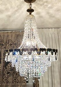 Antique French Empire Crystal Chandelier