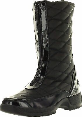 Front Zip Boots - Totes DIAMOND Womens Black Waterproof Front Zip Up Boots