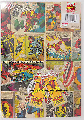 Wrapping Paper 2 Sheets 2 Tags Marvel Comics Strip Invincible Iron Man - Iron Man Wrapping Paper