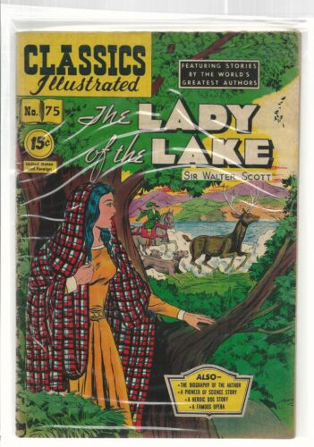 Classics Illustrated # 75  The Lady of the Lake