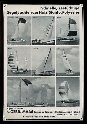 Grosse Werbung 1966 Gebr. Maas Scheeps- en Jachtwerf Breskens Zeeland Holland
