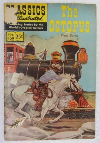Vintage 1960 Classics Illustrated #159 The OCTOPUS Comic Book by Frank Norris