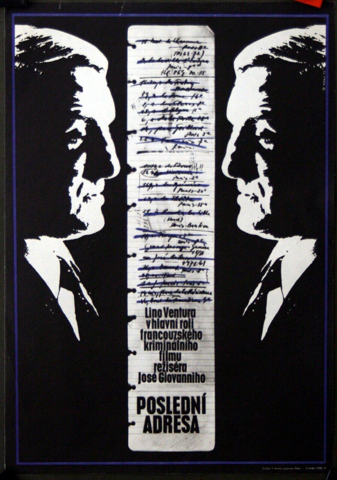 Lino Ventura :José Giovanni : Dernier Domicile Connu : POSTER