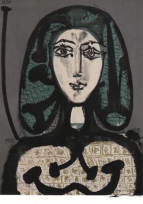 Postkarte: Pablo Picasso - Die Frau mit dem Haarnetz