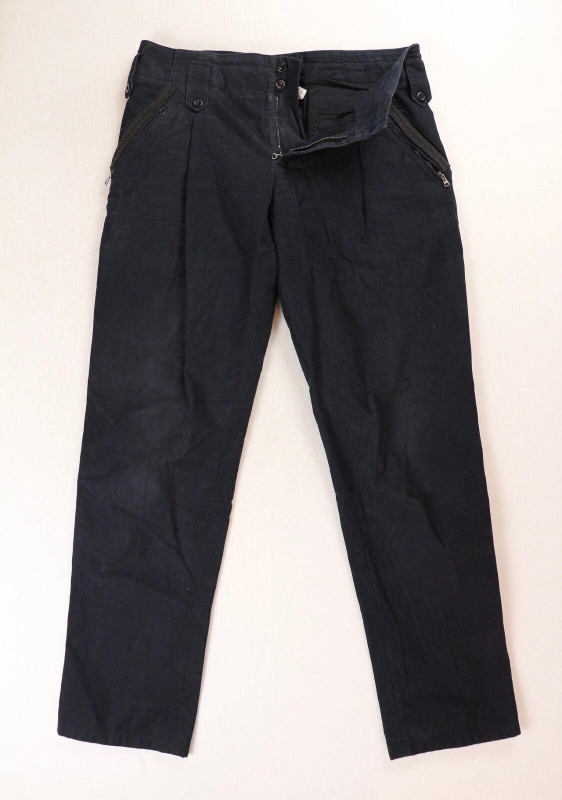 Dolce & Gabbana Vintage Mens Navy Blue Cotton Work