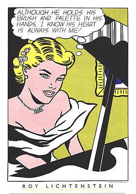 Roy Lichtenstein-Girl at the Piano-1994 Serigraph