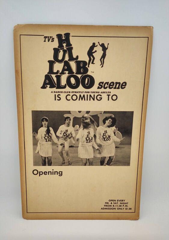 Hullabaloo Scene original concert poster 1965 1966 Dance club TV show