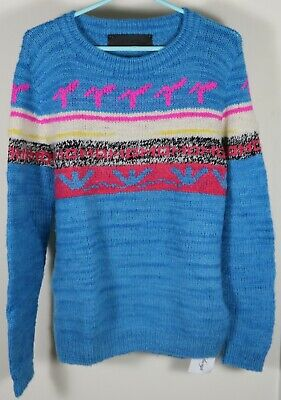 The Elder Statesman Fair Isle Cashmere Sweater Size Medium