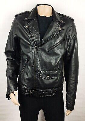 TRIPP NYC Black Jacket Leather Mens XL Daang Goodman Zip Belt *FREE SHIPPING* Goodman Mens Leather