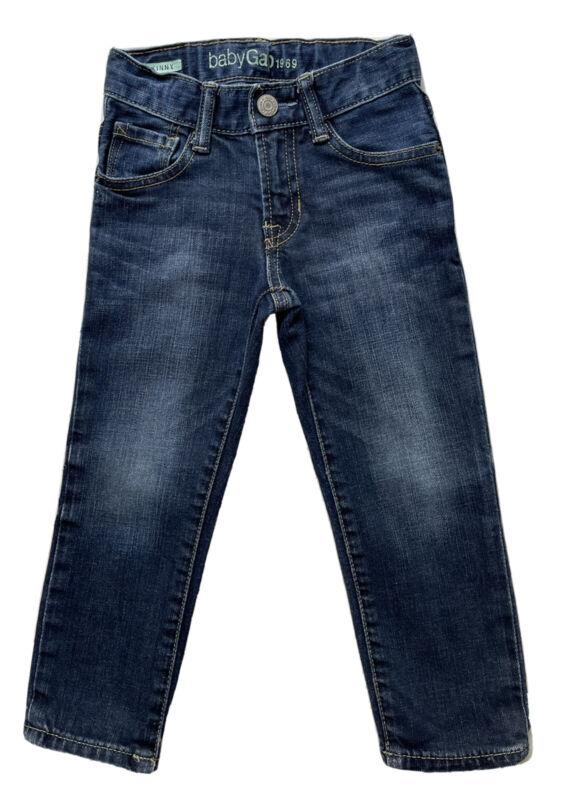 Baby Gap Skinny Denim Blue Jeans Boys Size 3