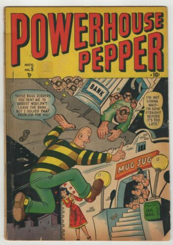 Powerhouse Pepper (1943) #5 1st Print Scarce Basil Wolverton Apparent Good+