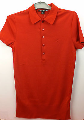 NWT RALPH LAUREN RED BLACK LABEL PONY POLO SHORT SLEEVE BUTTONS SHIRT M $155