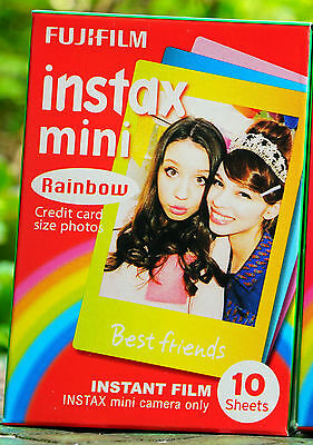 Rainbow 1Pack Instax Fuji Instant Film For Mini 90 70 8 25 SP 2 50s Lomo Camera