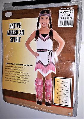 Mädchen Kostüm Indianerin  Prinzessin Native American Spirit Karneval 134 8-10
