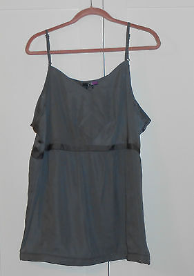 WOMENS LYS (LOVE YOUR STYLE) GRAY BABYDOLL CAMI - SIZE 20W