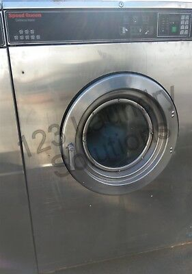 Speed Queen Front Load Washer Coin Op 80lb 3ph 200 240v Sc80byvqu60001 Used
