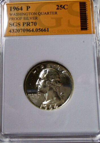 Nice 1964 90 % Silver Proof Washington Quarter As Pictured #05661