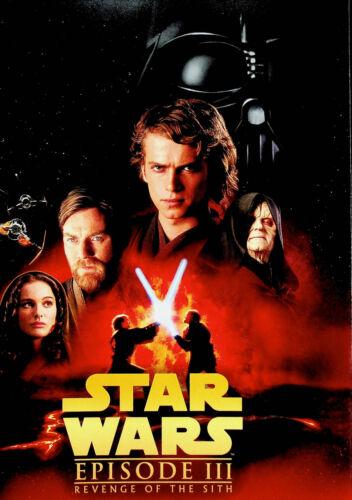 "Star Wars Episode III Revenge of the Sith Mini Poster 8"" x 11"" Darth Vader Obi"