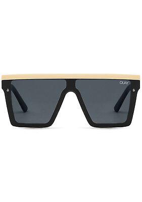 NEW QUAY AUSTRALIA Hindsight Sunglasses in Black/Gold - (Sunglasses Sale Australia)
