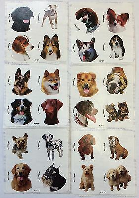 48 Dog Puppy  Dots Stickers Party Favors Teacher Supply Rewards  - Puppy Party Supplies