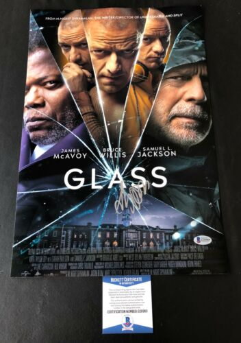 SAMUEL JACKSON SIGNED GLASS 12X18 PHOTO AUTHENTIC AUTOGRAPH BAS BECKETT COA