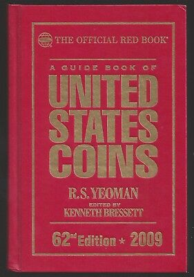 2009 THE OFFICIAL RED BOOK OF U.S. COINS - 62ND EDITION - USED - HARDCOVER