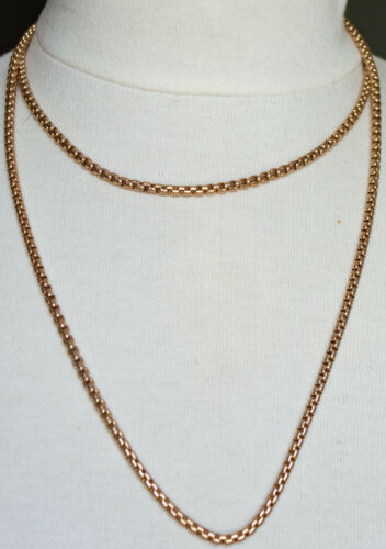 "Gorgeous 10K Gold 41 1/2"" Long Rope Necklace 52.6 Grams $1271 in Melt GOLD"