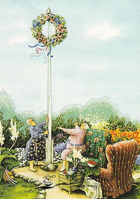 Kunstkarte: Inge Löök - Frauen mit Blumenkranz / Nr. 46