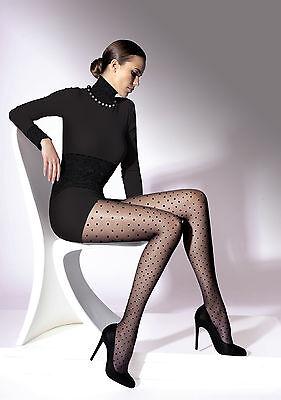 Elegant Unique Black Polka-Dot Pattern Elegant Women Tights Pantyhose Effect T20