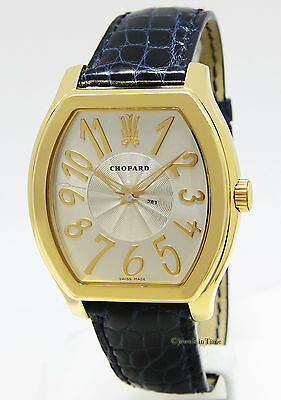 Chopard The Prince's Foundation 18k Yellow Gold Silver Dial Mens Watch 16/2235