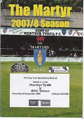 MERTHYR TYDFIL V NEWPORT COUNTY FA YOUTH  CUP 25/9/07