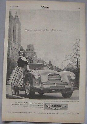 1955 Aston Martin DB2-4 Original advert No.1