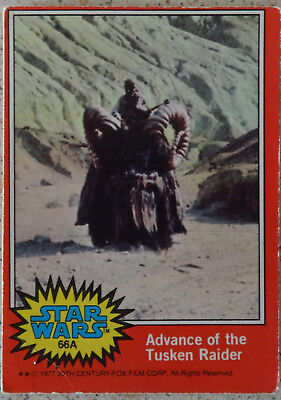 Topps Star Wars trading card 1977, 66A Advance of the Tusken Raider