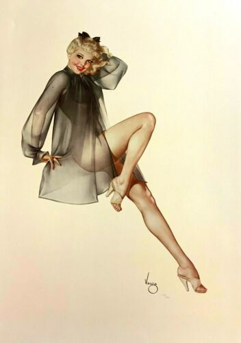 """Alberto Vargas """"sleepy Time Gal"""" Deluxe Edition Lithograph #279/450 Arches Paper"""