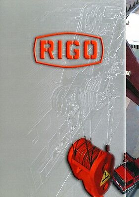 Rigo Unternehmensprospekt Kranhersteller 2002 company brochure I GB Krane cranes, gebraucht gebraucht kaufen  Gladbeck